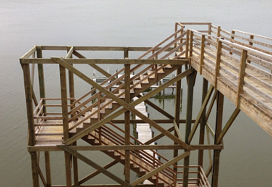 Chesapeake Bay Dock Stair Tower