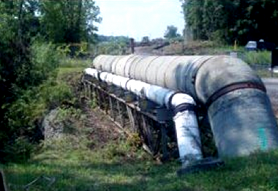 Temporary Pipe Bridge Support-Syracuse