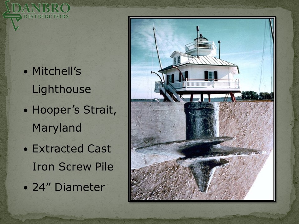 Hooper's Strait Lighthouse with helical pile illustration