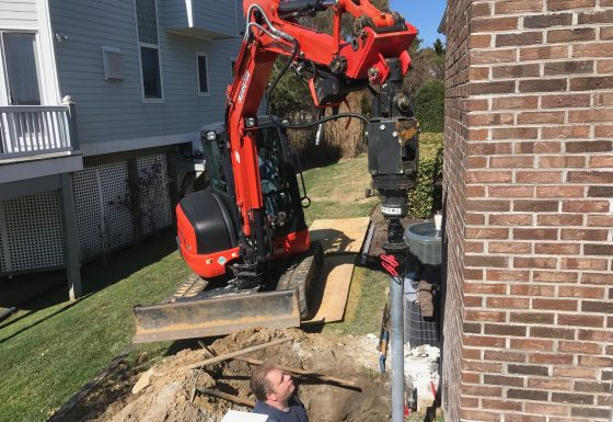 Ocean City Maryland Settling Chimney Underpinning