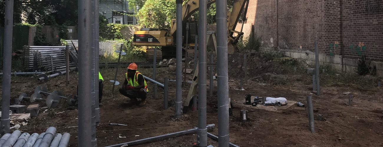 256 North 9th Street Helical Installation