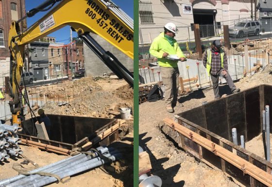 5th and Berks Helical Pile Installation